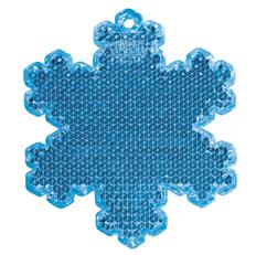Пешеходный светоотражатель Снежинка, синий фото