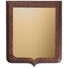 Плакетка Riddle Gold ver. 2, золотистая/ темное дерево фото