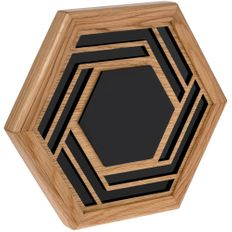 Плакетка Tile, черная / коричневая фото
