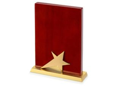 Плакетка Звезда, золотой фото