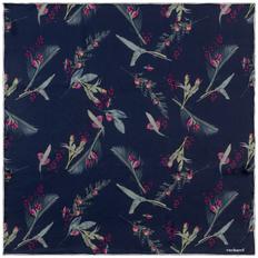 Платок Cacharel Iris Silk, темно-синий фото