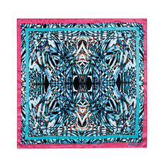 Платок шейный Simmetria, розовый/ голубой фото