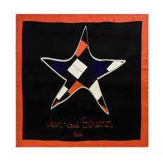 Платок шейный Star, черный фото