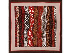 Платок шелковый Jean-Louis Scherrer Savane, коричневый фото