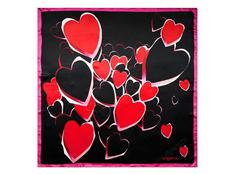 Платок Ungaro Cuore, красный/ черный фото