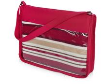Плед для пикника Junket в сумке, красный фото