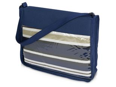 Плед для пикника Junket в сумке, синий фото