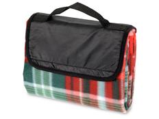 Плед для пикника с непромокаемой подкладкой, красный, зеленый фото