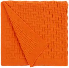 Плед акриловый двусторонний Teplo Biscuit, оранжевый фото