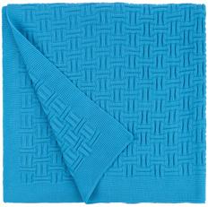 Плед акриловый двусторонний Teplo Biscuit, ярко-голубой фото