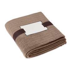 Плед флисовый 240 г/м2, коричневый фото