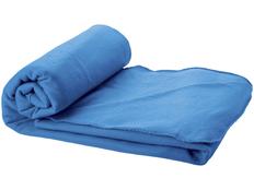Плед флисовый Huggy в чехле, голубой фото