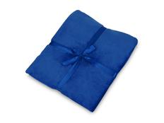 Плед флисовый Natty из переработанного пластика, синий фото