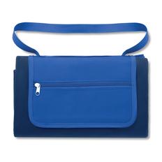 Плед флисовый для пикника с защитной непромокаемой прослойкой, королевский синий фото