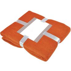 Плед акриловый Mohair, оранжевый фото