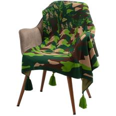 Плед Принтэссенция «Искусство камуфляжа», зеленый фото