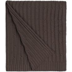 Плед Remit, коричневый меланж фото