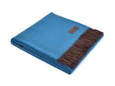 Плед шерстяной Marzotto Ermes, синий фото