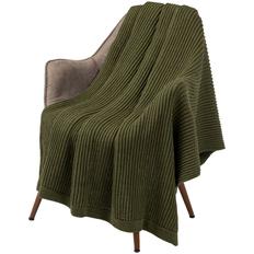 Плед Very Marque Shirr, зеленый фото