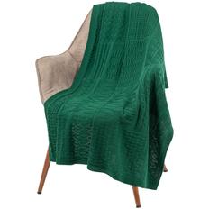 Плед Teplo Snippet, зеленый меланж фото