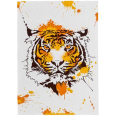 Плед Tiger Wools, белый / оранжевый фото