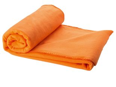 Плед фдтсовый в чехле Huggy, оранжевый фото