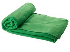 Плед флисовый Huggy в чехле, зеленый фото