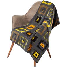 Плед Volta, чёрный/жёлтый фото