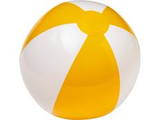 Пляжный мяч Palma, жёлтый/белый фото