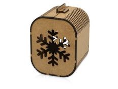 Подарочная коробка Снежинка, малая фото