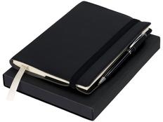 Набор подарочный Luxe Aria: блокнот, ручка шариковая, черный фото
