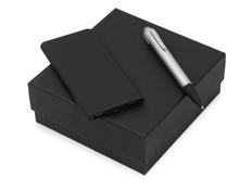 Набор подарочный Beam of Light: ручка шариковая Glow, аккумулятор Faros 4000 мАч, черный фото