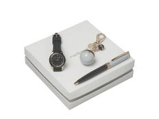 Подарочный набор Bird: брелок, часы наручные, ручка шариковая, тёмно-синий фото