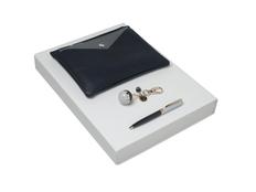 Подарочный набор Bird: брелок, ручка шариковая, сумка, тёмно-синий фото