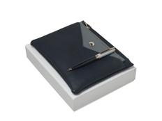 Подарочный набор Bird: ручка шариковая, сумочка, тёмно-синий фото