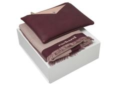 Набор подарочный Cacharel Bird: шарф, сумочка, бордовый/ розовый фото