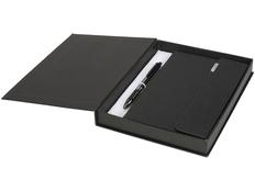 Набор подарочный Luxe: блокнот А5, ручка шариковая, черный фото