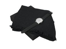 Подарочный набор Celso: шарф, часы наручные мужские, чёрный фото