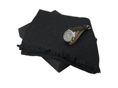 Подарочный набор Celso: шарф, хроногаф, чёрный фото