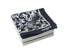 Набор подарочный Cacharel: часы наручные женские, шелковый платок, чёрный/ белый фото