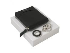 Подарочный набор Embrun: брелок, кошелек, чёрный фото