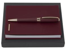 Подарочный набор Essential Lady: ручка шариковая, блокнот А6, бордовый фото