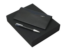 Подарочный набор Lapo: дорожный кошелек, ручка шариковая, чёрно-синий фото