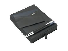 Подарочный набор Lapo: кредитница, ручка шариковая, чёрно-синяя фото