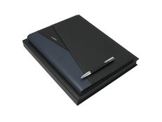 Подарочный набор Lapo: папка А4, ручка шариковая, чёрно-синяя фото