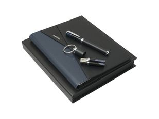 Подарочный набор Lapo: папка А5, USB-флешка на 16 Гб, ручка роллер, чёрно-синий фото