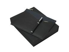 Подарочный набор Lapo: сумка-клатч, ручка роллер, чёрно-синий фото
