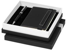 Подарочный набор Legatto: блокнот А6, ручка шариковая, чёрный фото