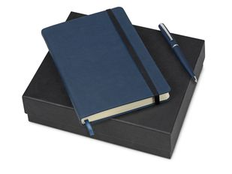 Подарочный набор Megapolis Velvet: ежедневник А5 , ручка шариковая, тёмно-синий фото