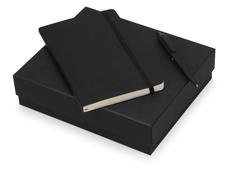 Подарочный набор Moleskine Indiana с блокнотом А5 и ручкой, черный фото